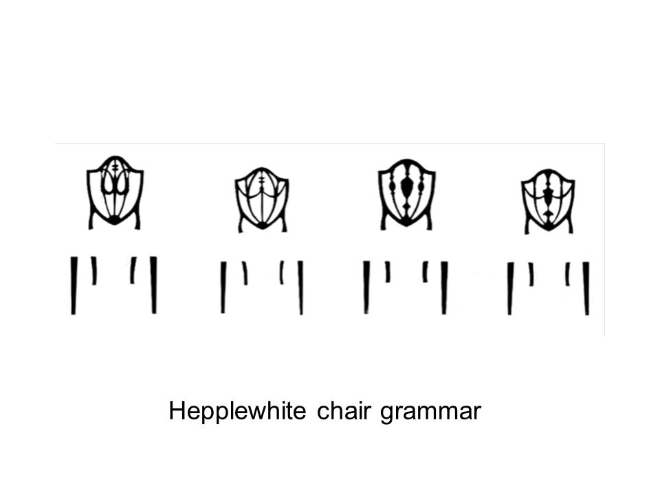 Hepplewhite chair grammar