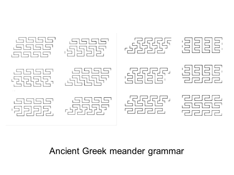 Ancient Greek meander grammar