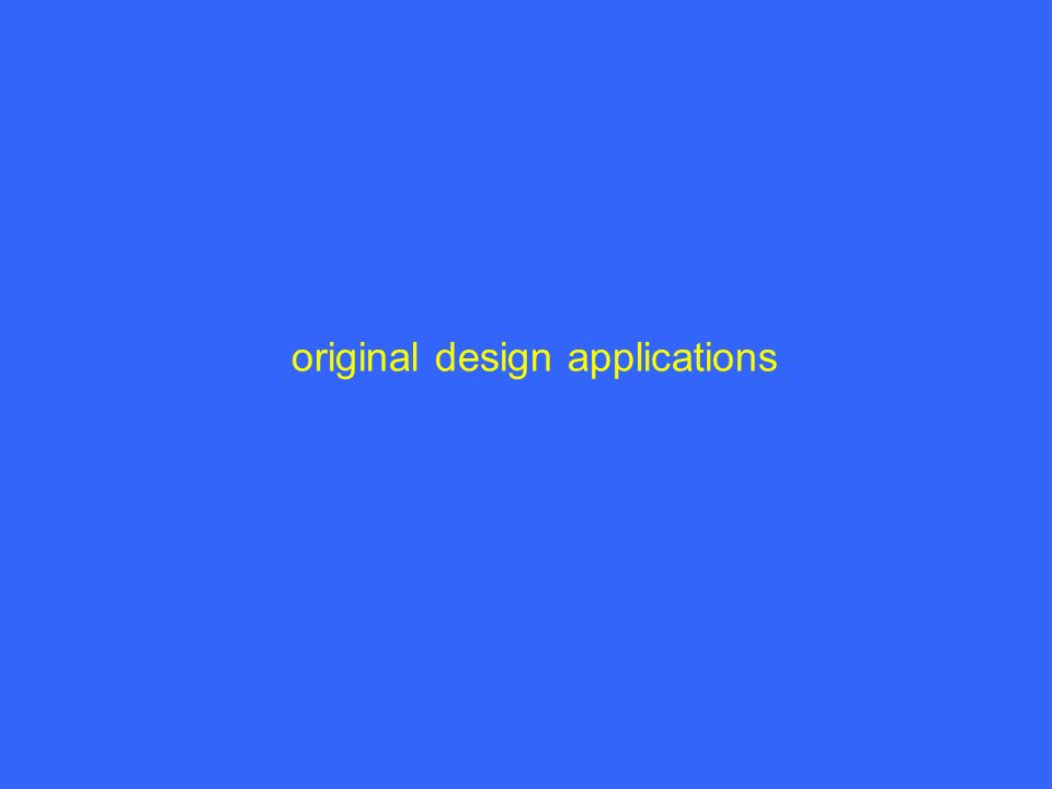 original design applications