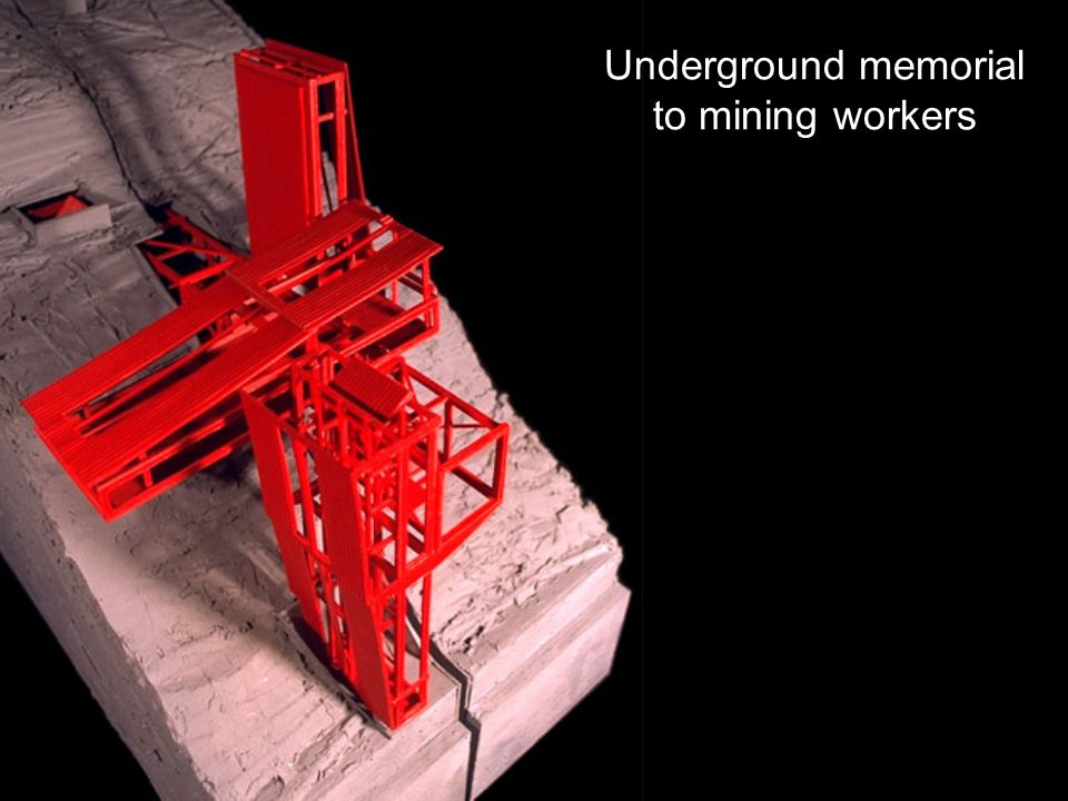 Underground memorial to mining workers