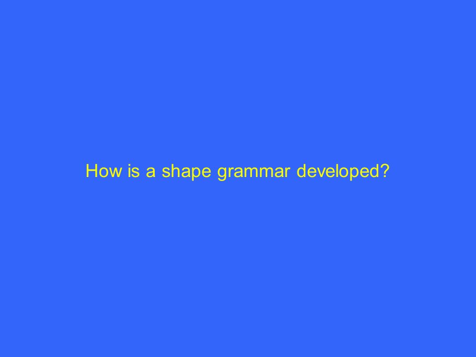 How is a shape grammar developed