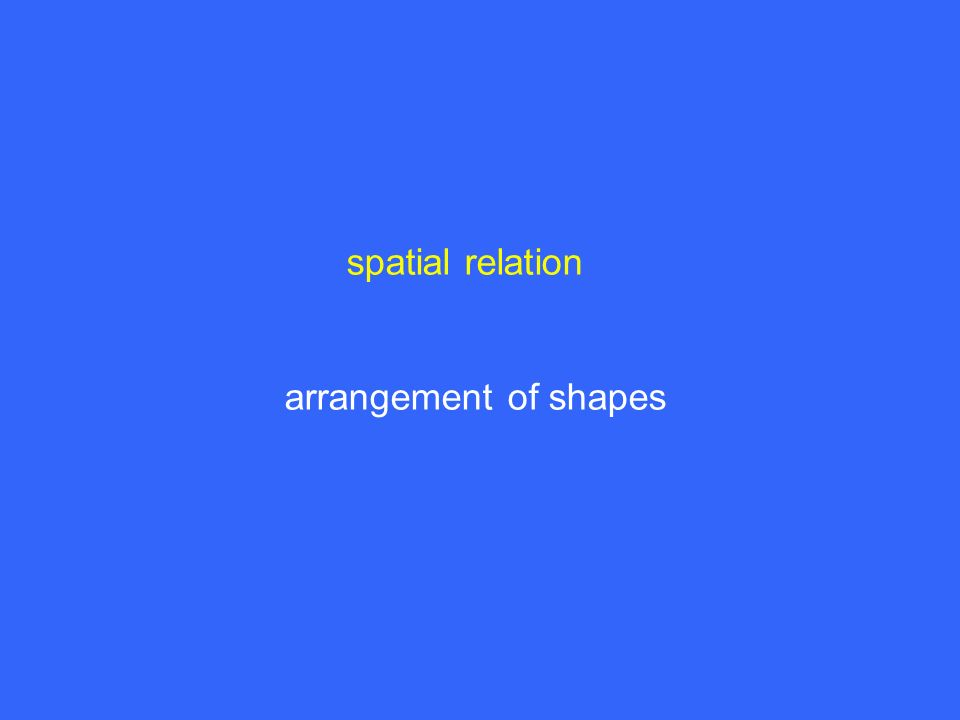 spatial relation arrangement of shapes