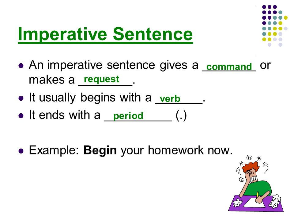 examples of the four types of sentences