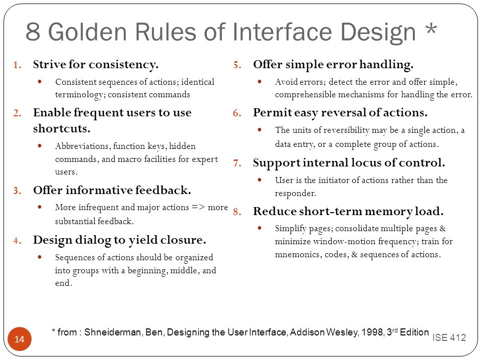 Human Computer Interaction Design Process Task And User Characteristics Guidelines Evaluation Ise Ppt Download