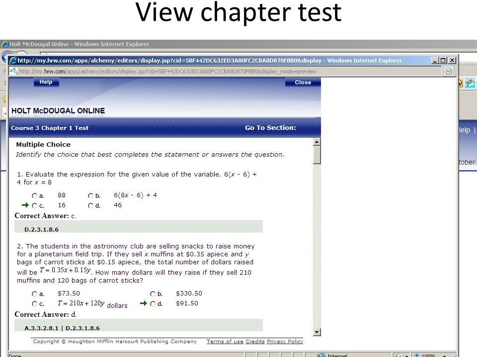 Online Math Book 6 7 8 Grade Holt McDougal 2010 Teacher