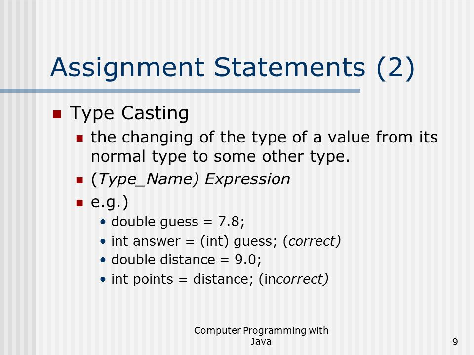 Python Variable Assignment Statements