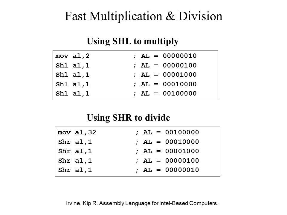 13 shift instruction in assembly language   sar shr sal shl.