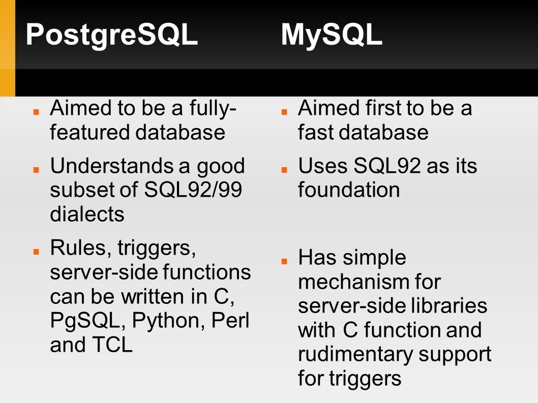 What is PostgreSQL? Object-relational database management