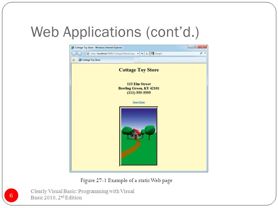 """Chapter 27 Getting """"Web-ified"""" (Web Applications) Clearly Visual"""