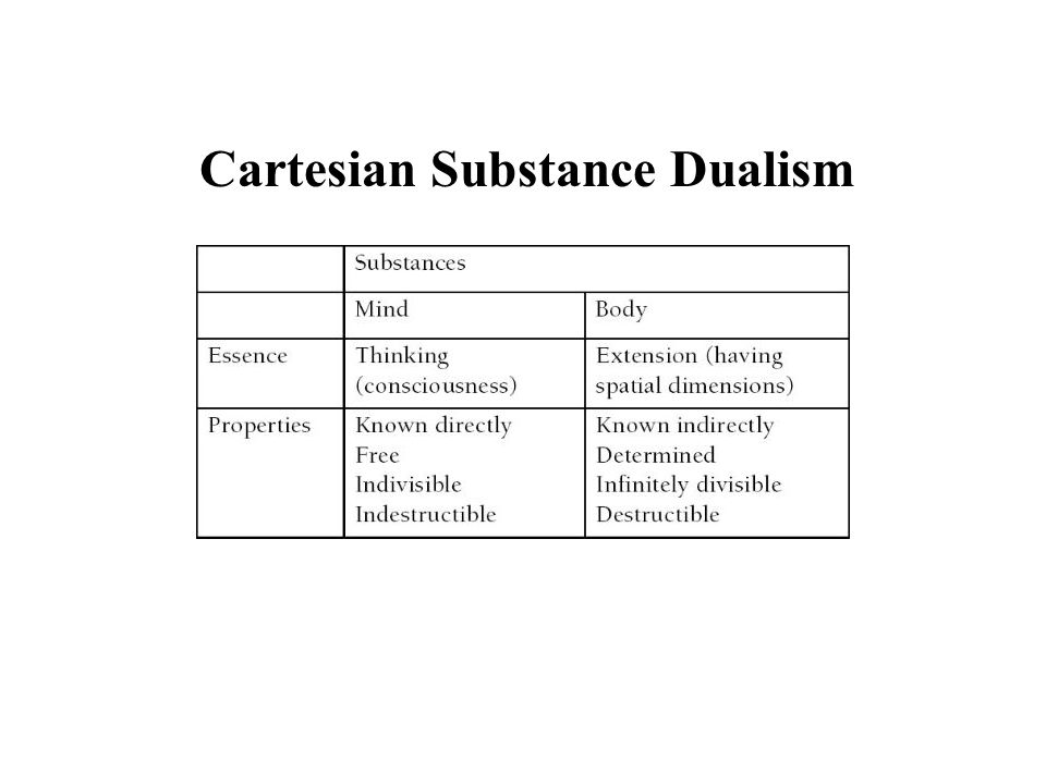 problems with cartesian dualism