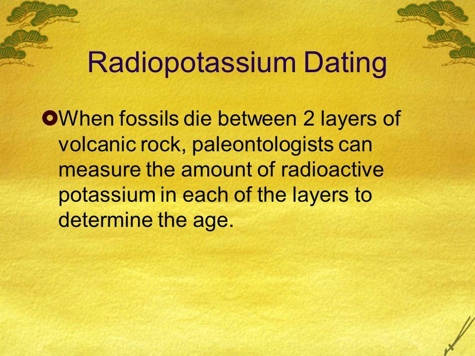 Radiopotassium dating