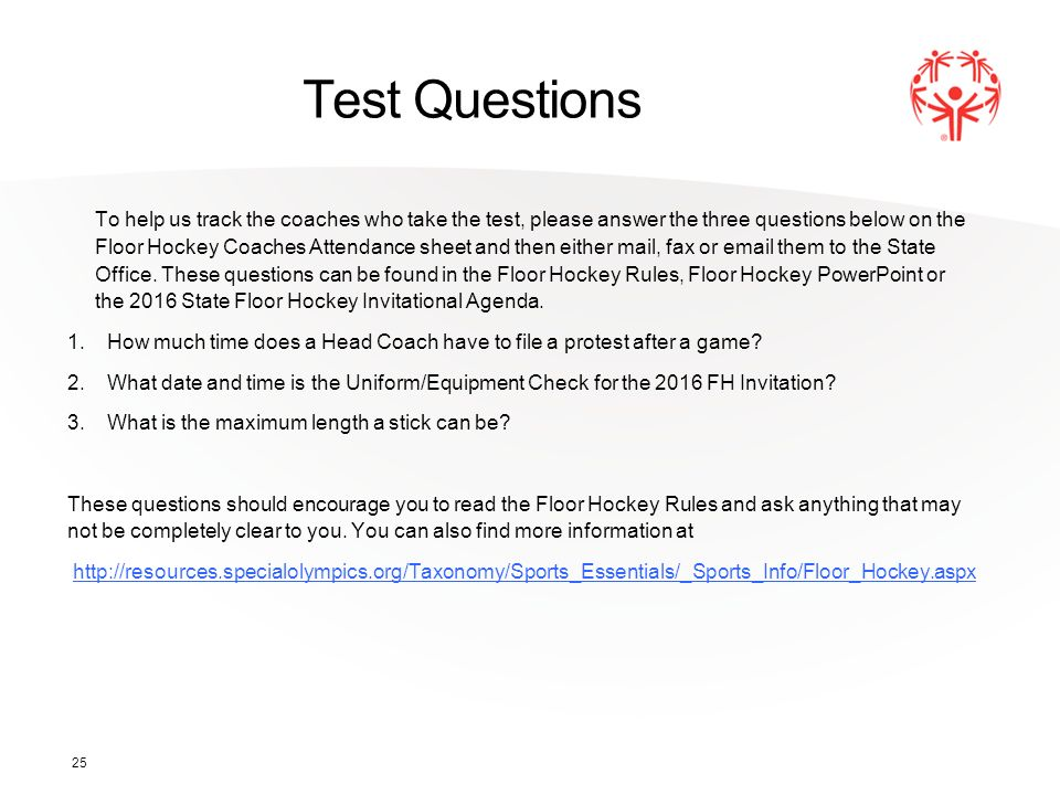 Program Name Floor Hockey Coaches Training 1 IDAHO  - ppt