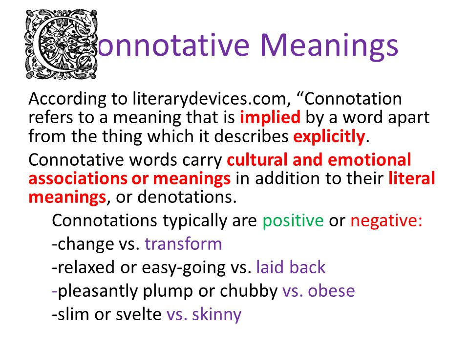 connotative diction examples