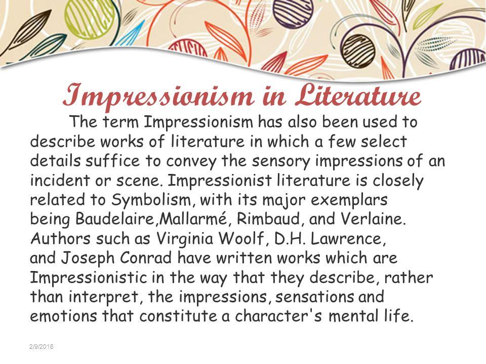 impressionism in literature