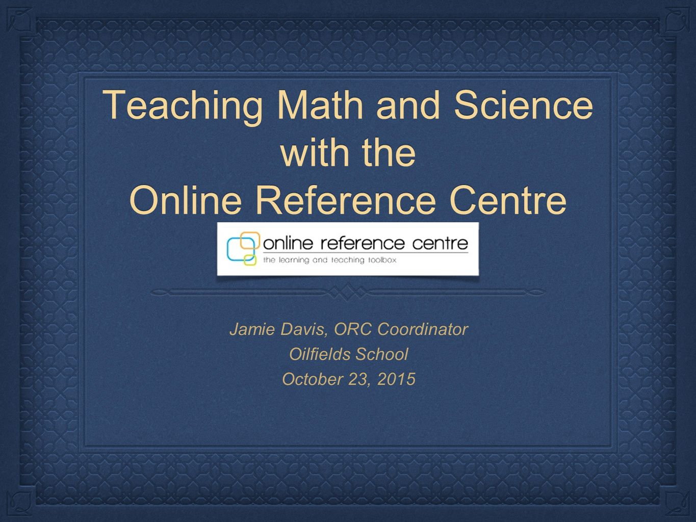 Teaching Math And Science With The Online Reference Centre Jamie