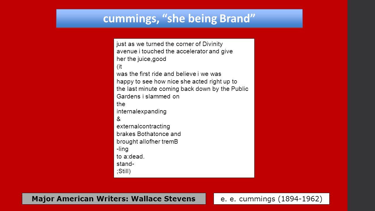 ee cummings she being brand