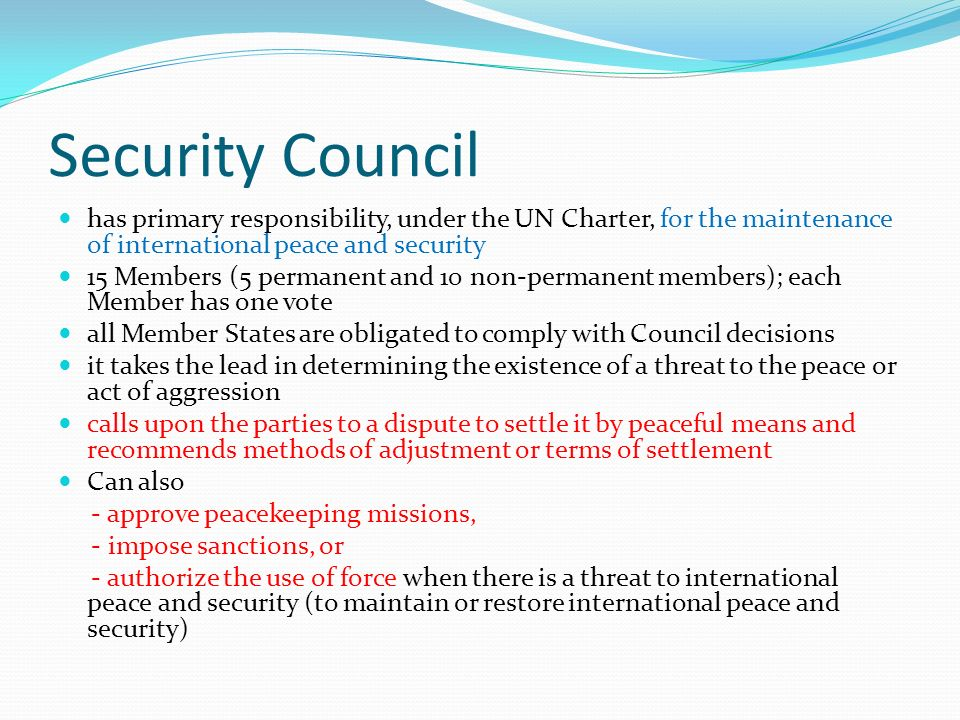 un security council functions