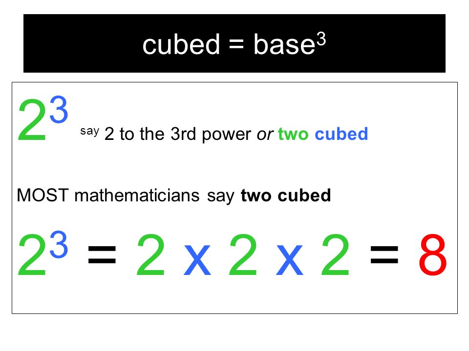 Powers And Exponents Multiplication Short Cut Addition When You