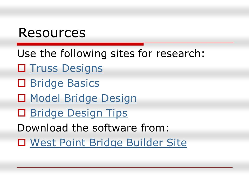 Technology Education Webquest Bridge Design John Rumpler Iv Ppt Download