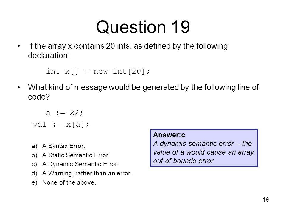 dynamic semantic error