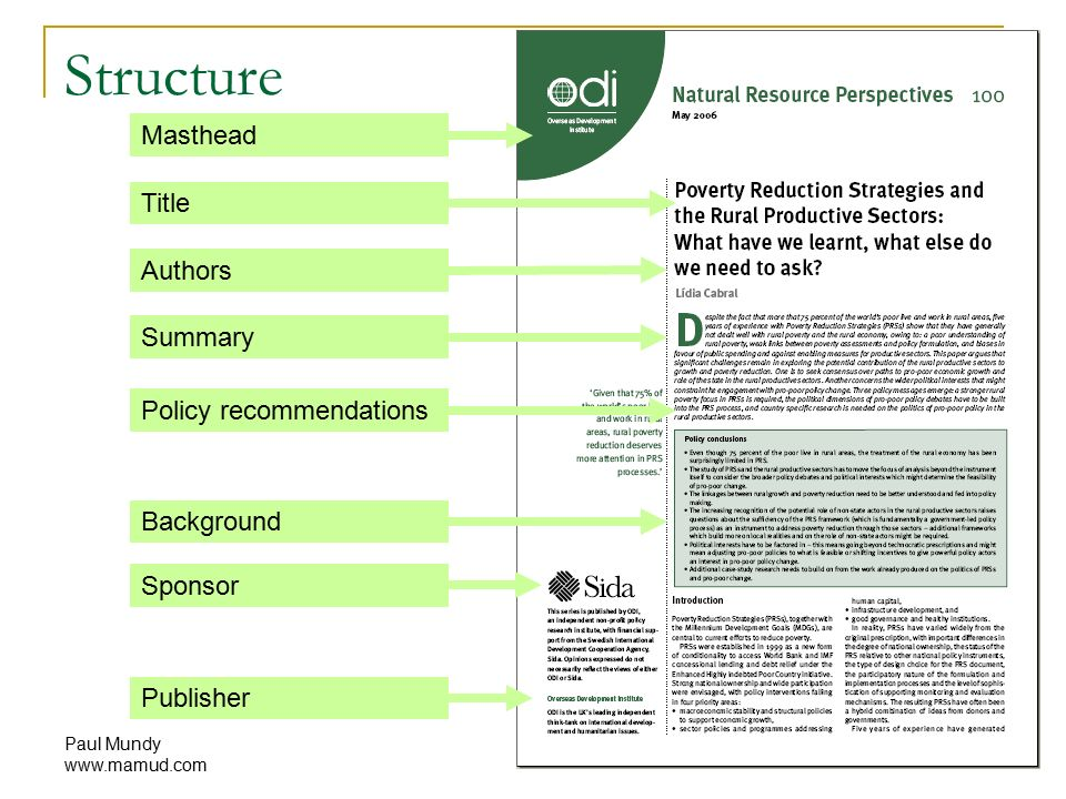 Paul Mundy Anatomy of a policy brief. - ppt download