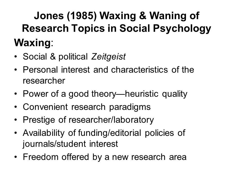 social psychology research topics