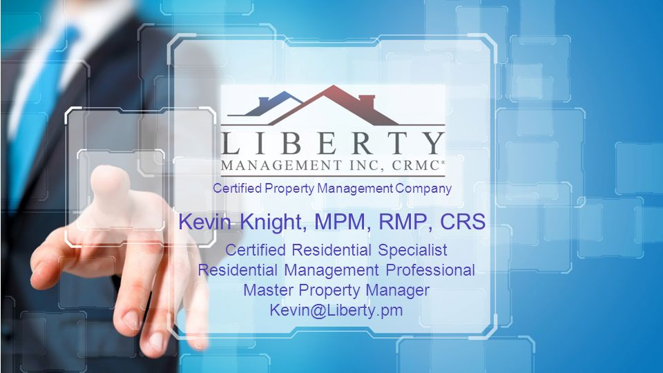 Certified Property Management Company Kevin Knight, MPM, RMP, CRS ...