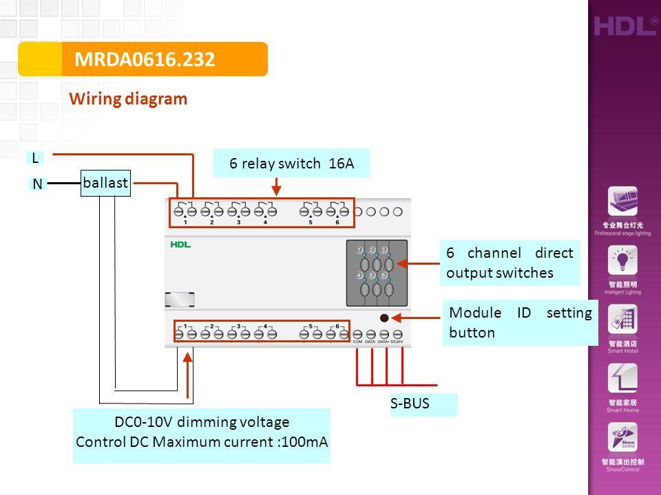 mrda wiring diagram s bus module id setting button ballast l n dc0 rh slideplayer com