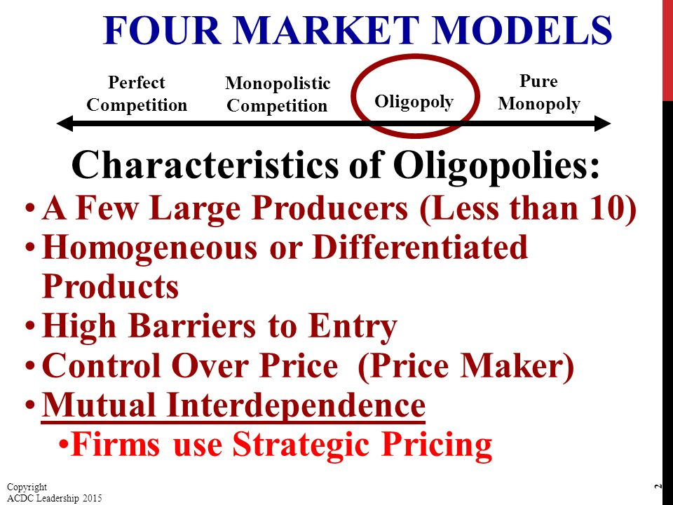 5 characteristics of oligopoly