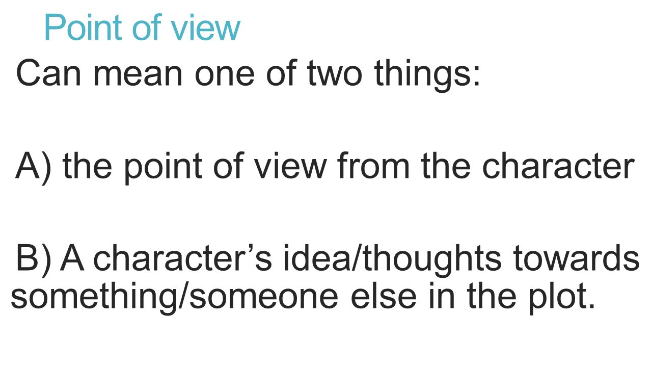 Term end grade 6 reading paper city of ember from the instructions of view can mean one of two things a the point of view from the character b a characters ideathoughts towards somethingsomeone else in the plot ccuart Images
