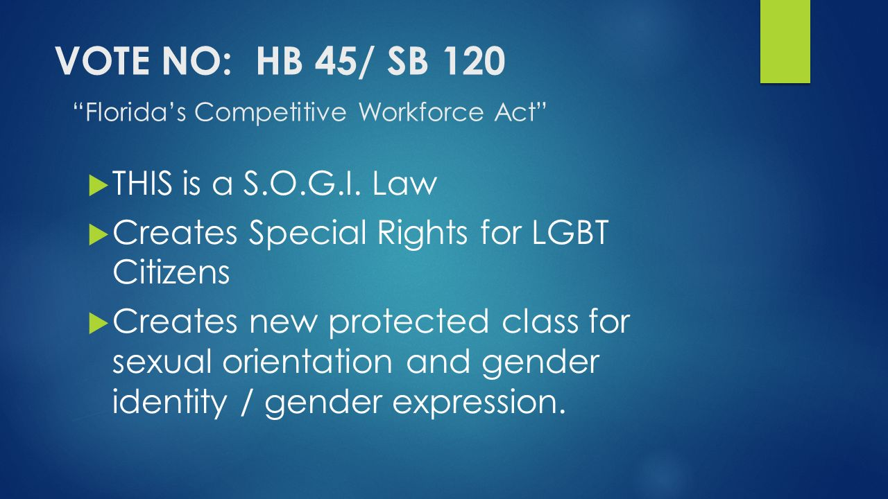 Sexual orientation protected class florida
