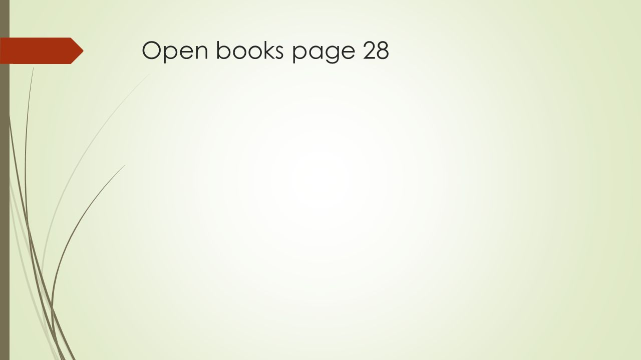 Open books page 28