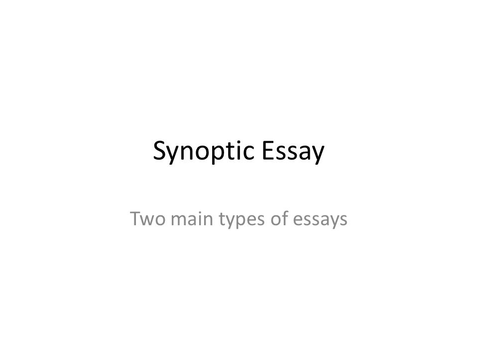 Good Thesis Statements For Essays  Synoptic Essay Two Main Types Of Essays Terrorism Essay In English also Model English Essays Synoptic Assessment Essay Question Synoptic Assessment  Essay   Essay Topics For Research Paper