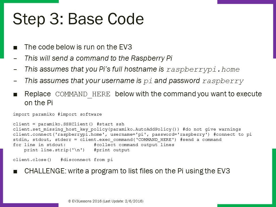 Bonus EV3 Programming Lessons LEGO MINDSTORMS EV3Dev and