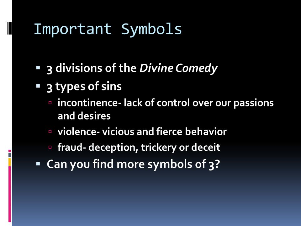 Important Terms Symbols Characters Important Terms 1 Allegory
