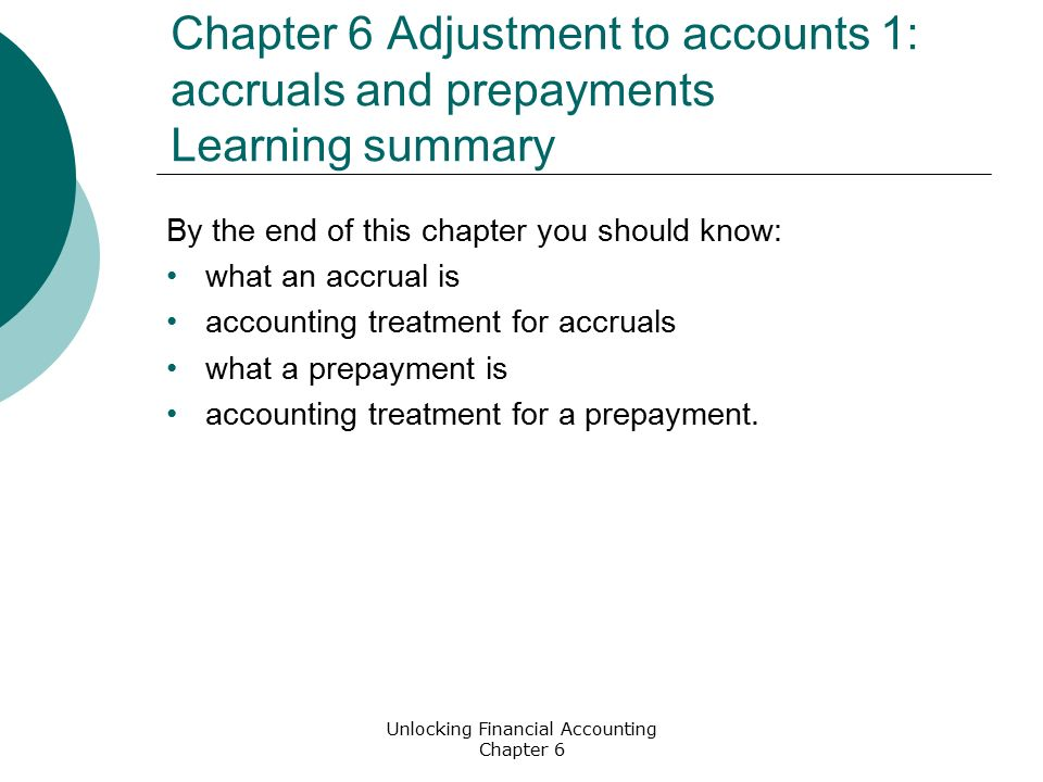 accounting prepayment