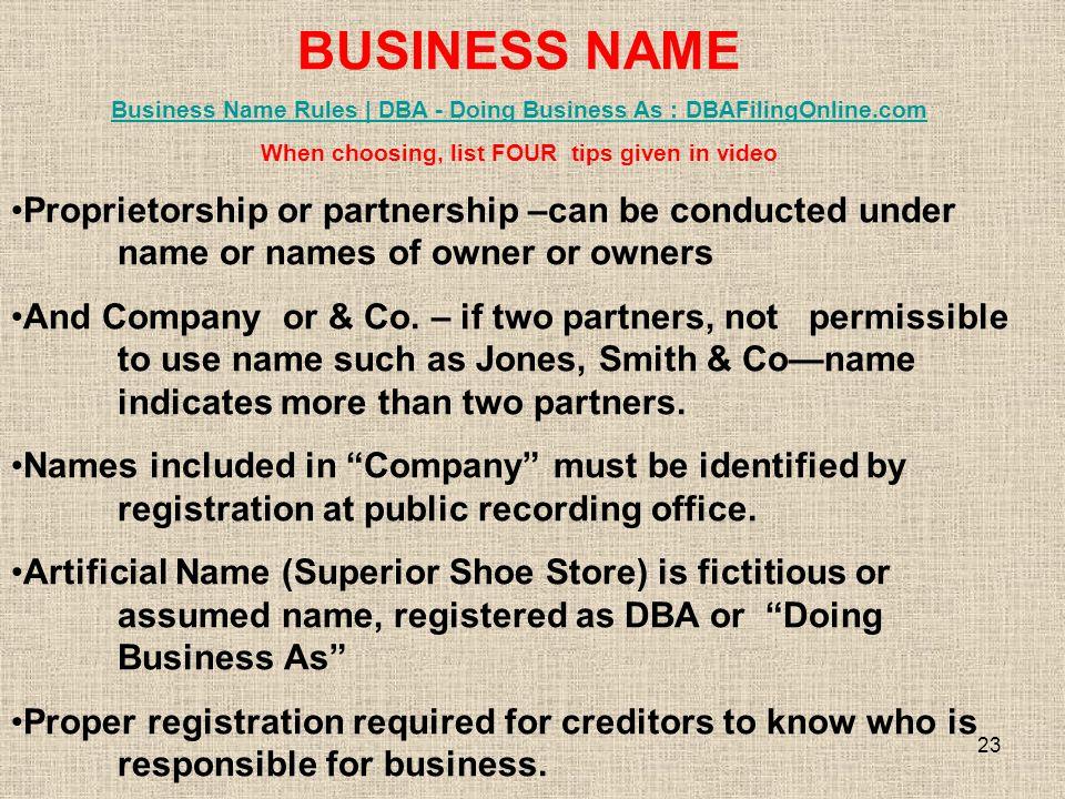 1 UNIT 5 FORMS OF BUSINESS OWNERSHIP PROPRIETORSHIP