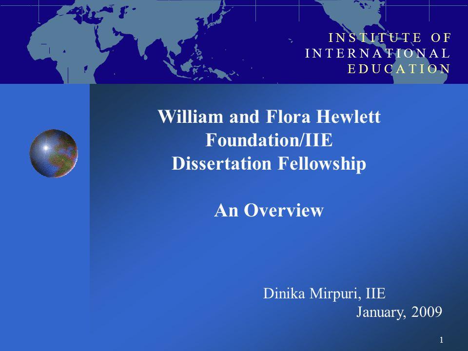 hewlett iie dissertation fellowship