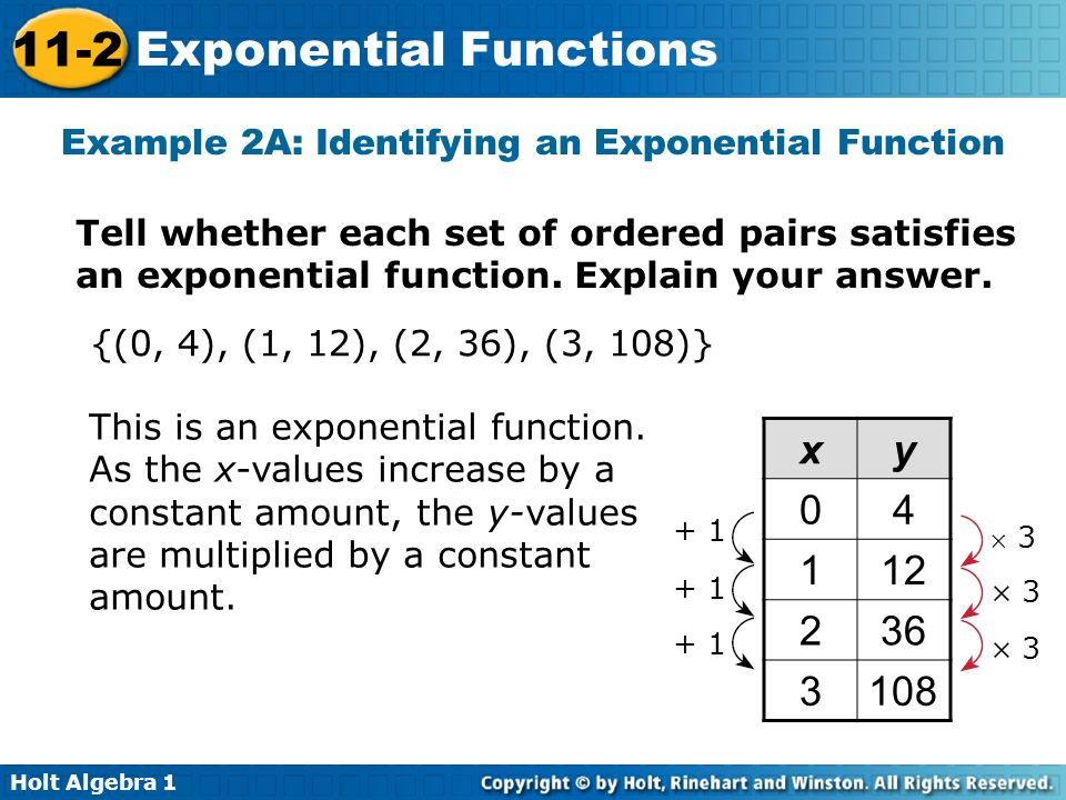 lesson 11-2 problem solving exponential functions holt algebra 1