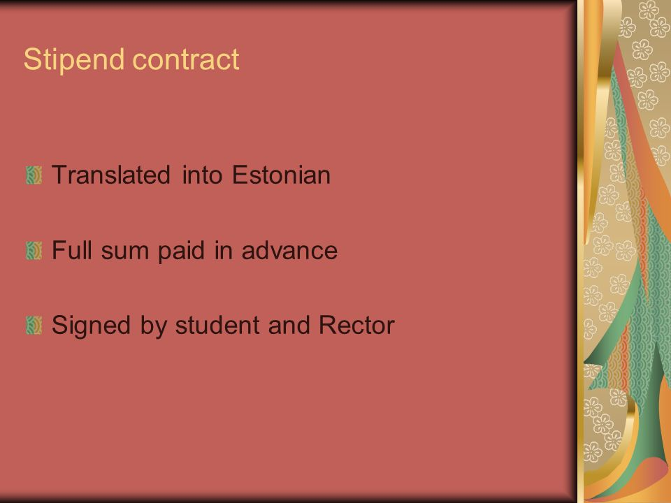 Implementation Of The Contracttraining Agreement And Transcript Of