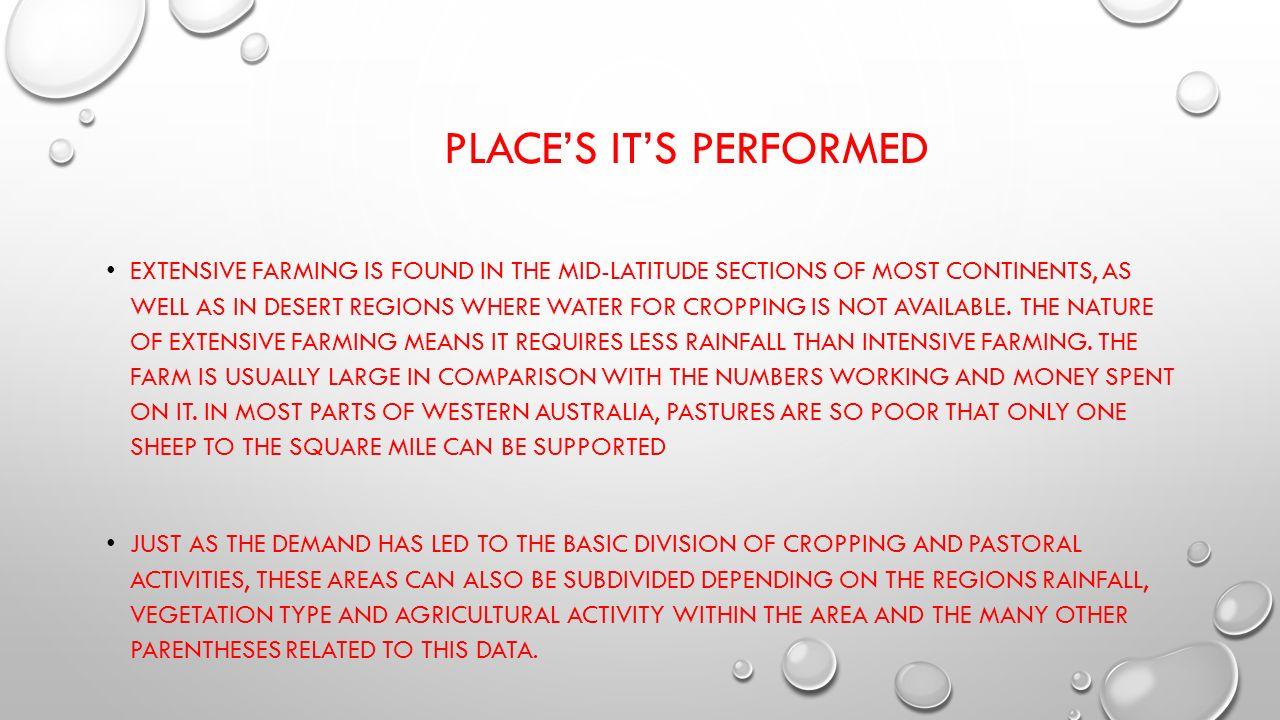 define extensive farming