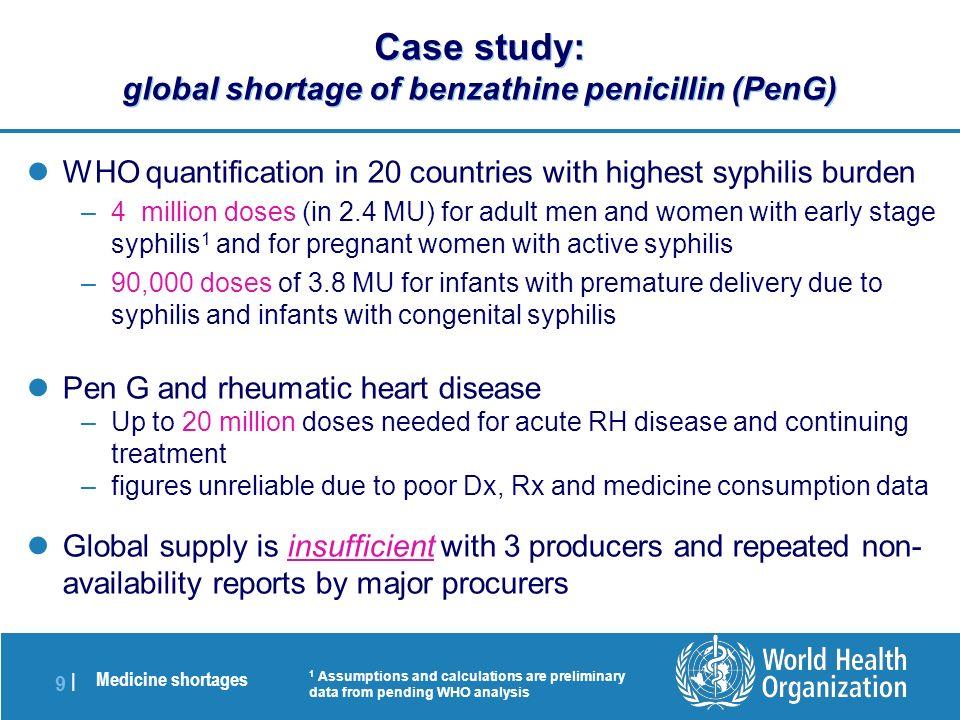 Medicine shortages 1 |1 | P ROGRESS AND FUTURE AGENDA M