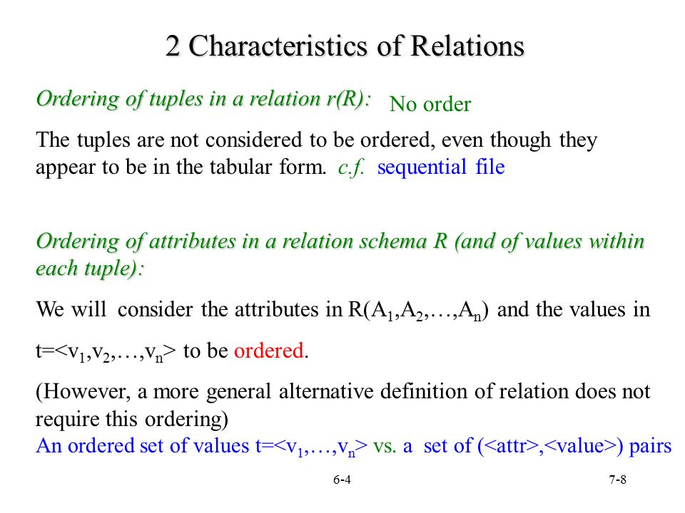 7 1 Chapter 7 The Relational Data Model Relational Constraints And
