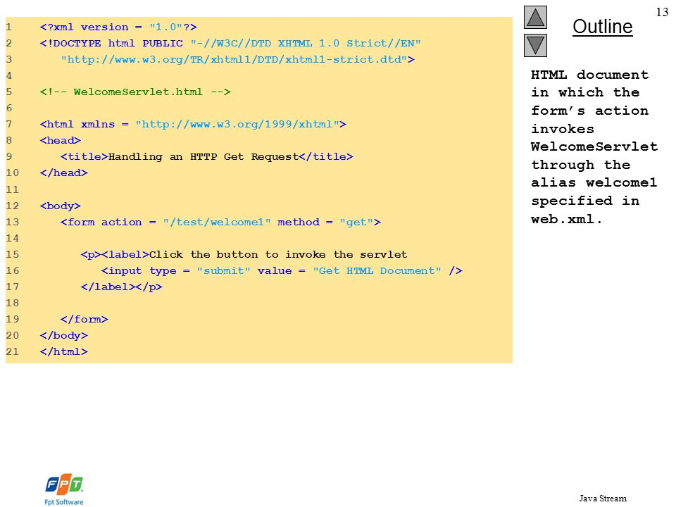 Java Stream Introduction 11 2 Servlet Overview and