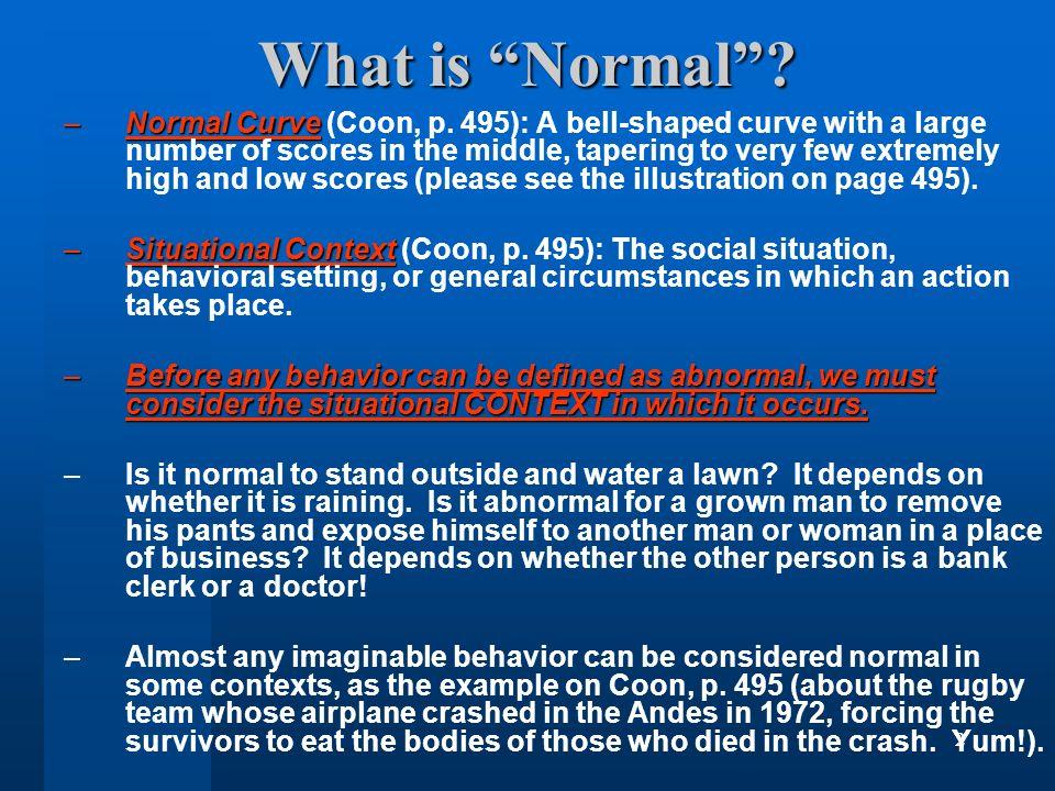 normal behavior definition