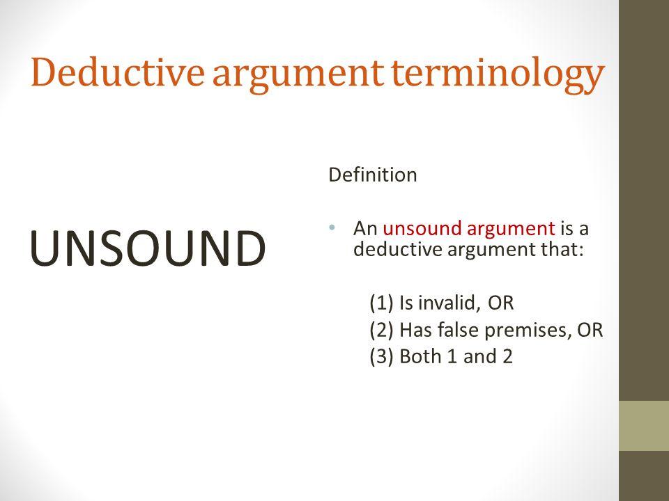 define unsound argument
