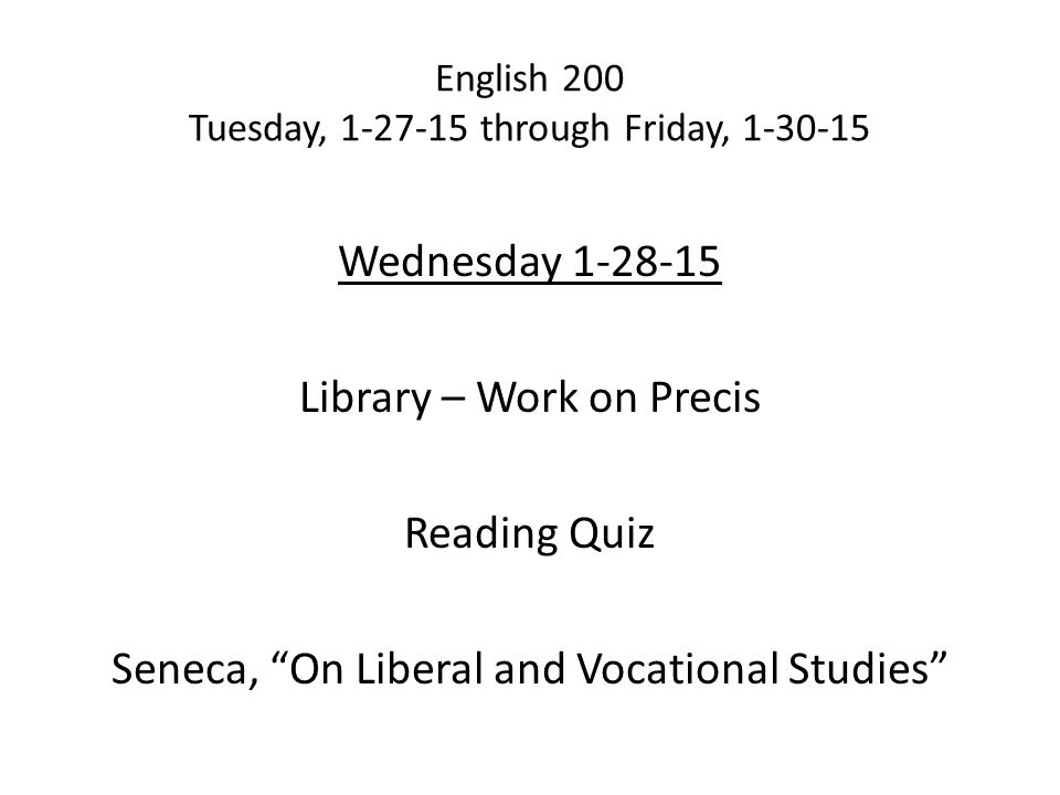 seneca on liberal and vocational studies