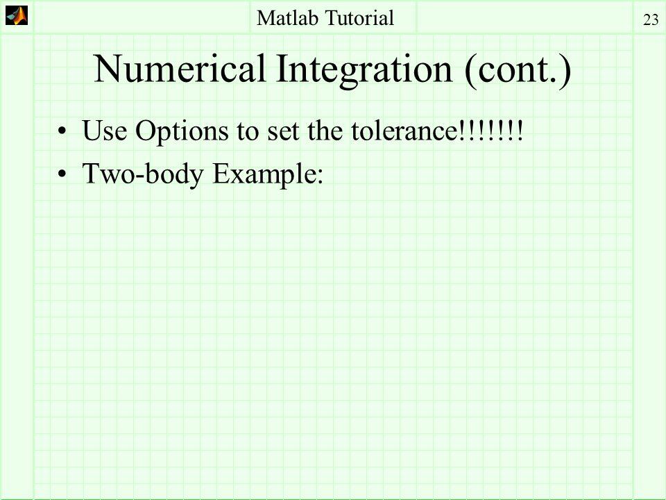 Matlab Tutorial 1 David Goldstein University of Colorado Dept of