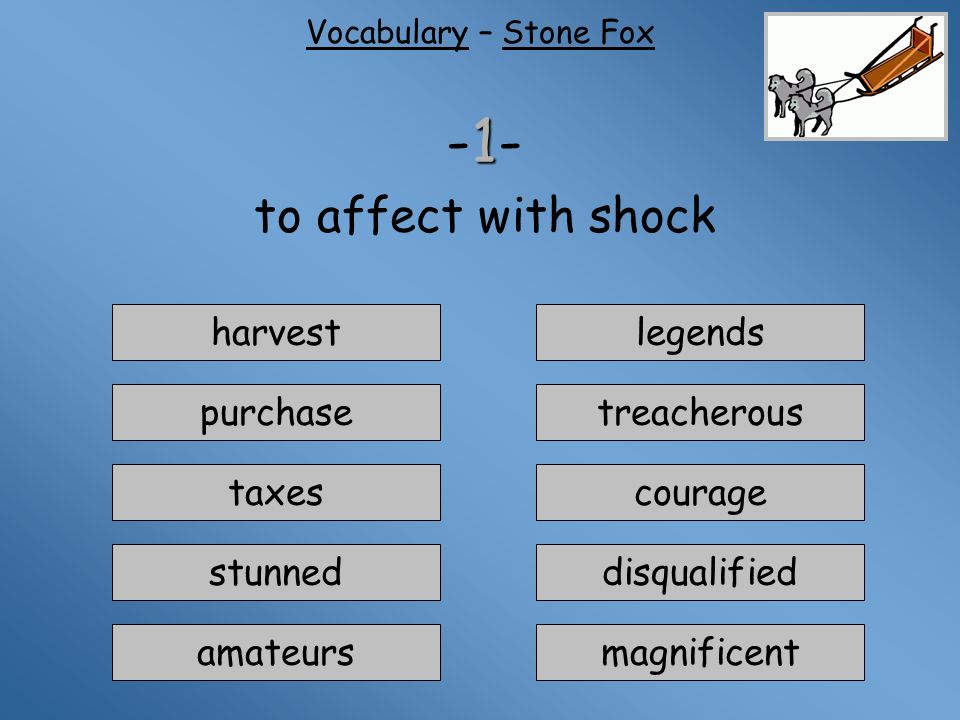 Stone Fox Story Vocabulary I Need To Study First I Am Ready To Quiz