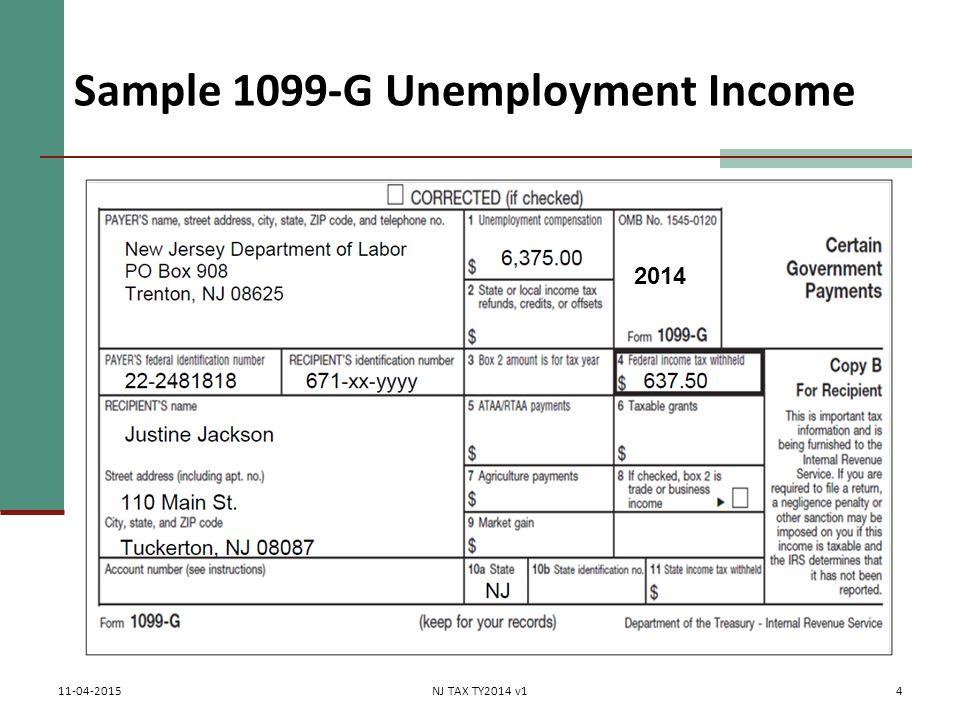 1099 form nj  Unemployment Pub 11 Chapter 11 (Federal 11-line 11) NJ TAX ...